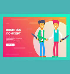 business concept two businessmen hate each other vector image