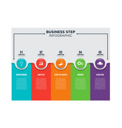 business step infographic template design vector image