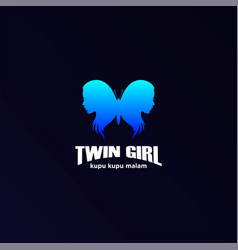 butterfly twin hot sexy woman girl lady female vector image
