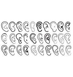 Cartoon ears vector