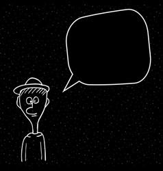cartoon man talking man with bulb vector image