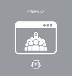 Catholic website bage icon vector