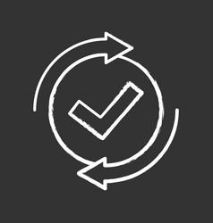 checking process chalk icon vector image