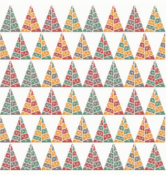 christmas and new year seamless pattern template vector image