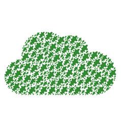 cloud mosaic of oak leaf icons vector image