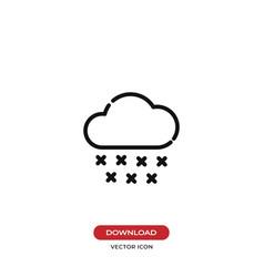 cloud with rain drop icon vector image