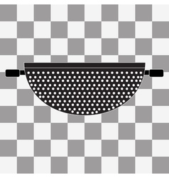 Colander Icon on transparency vector