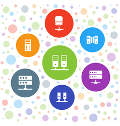 datacenter icons vector image