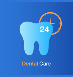 Dental care concept good hygiene tooth prevention vector
