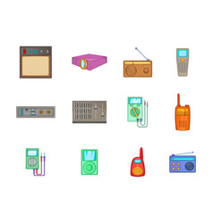 device icon set cartoon style vector image