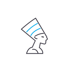 egyptian hat linear icon concept egyptian hat vector image