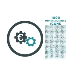 Euro Mechanics Rounded Icon with 1000 Bonus Icons vector image