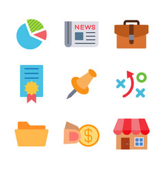 finance and money colored trendy icon pack 3 vector image