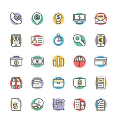 Finance Cool Icons 3 vector image