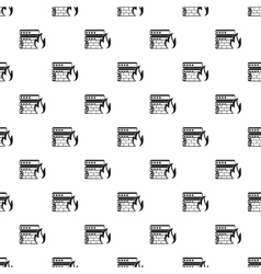 Fire protection in file store pattern vector