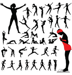 fitness women calisthenics aerobics dance vector image