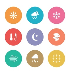 Flat design style weather icons vector
