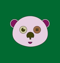 Flat icon design collection teddy bear face vector