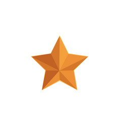 flat icon of five-pointed golden star vector image