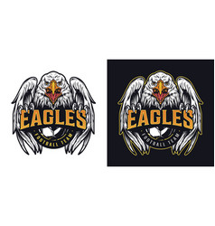 Football team vintage colorful logotype vector