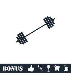 Free flex gear crossbar icon flat vector