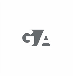 Ga logo monogram with negative space style design vector