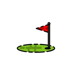 Golf flat icon vector