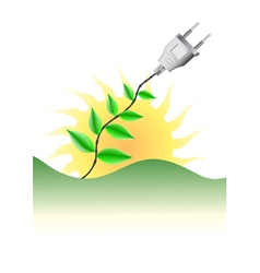 Green energy concept vector image