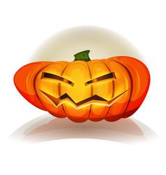 Halloween pumpkin character vector