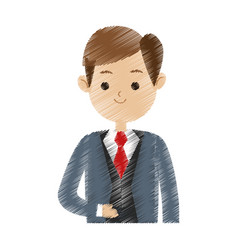 handsome man in suit icon image vector image