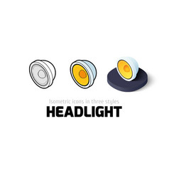 Headlight icon in different style vector image