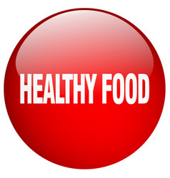 Healthy food red round gel isolated push button vector