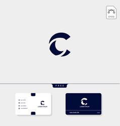 Initial c cc outline creative logo template vector