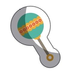 Isolated baby maraca design vector image