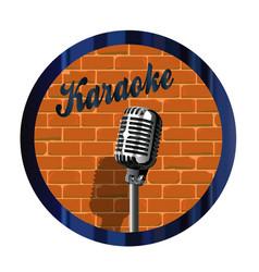 Karaoke mic circle vector