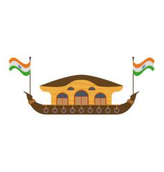 Kerala houseboat isolated vector