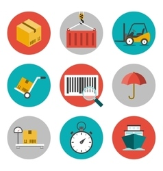 Logistic flat icons vector