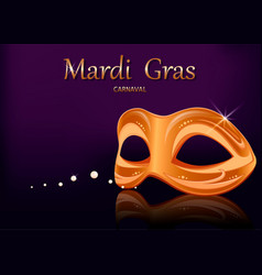 mardi gras carnival mask greeting card vector image