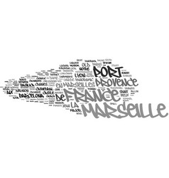 Marseille word cloud concept vector