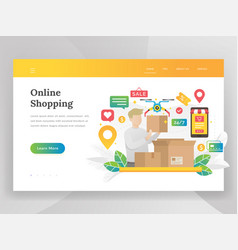 modern flat design concept online shopping vector image
