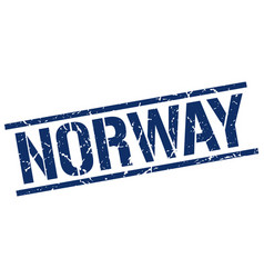Norway blue square stamp vector