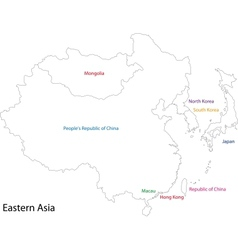 Outline Eastern Asia vector