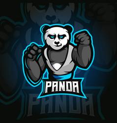 Panda e-sport vector