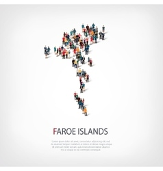 people map country Faroe Islands vector image
