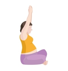Pregnant Woman Exercise vector