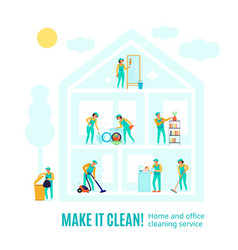 professional cleaning advertising vector image