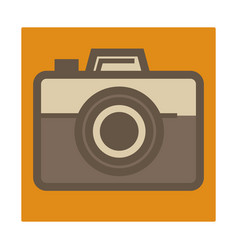 retro photo camera isolated icon photographer vector image
