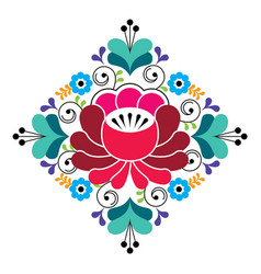 Russian folk design - floral pattern colorful vector