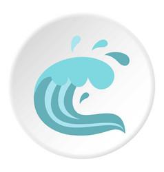 Sea icon circle vector