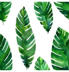 seamless pattern with watercolor green vector image